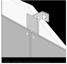 Außenplatten-Nieten-auf-Alu-Unterkonstruktion