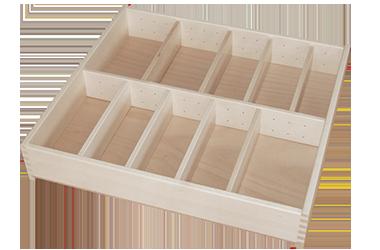 Holzschubladen-Besteckkasten