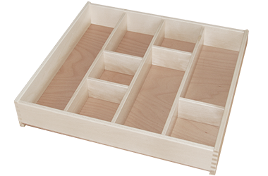 Holzschubladen-Einteilungsset