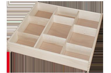 Holzschubladen-Schubladeneinsatz